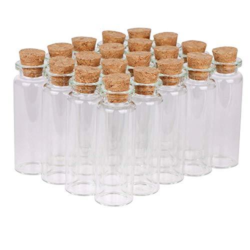 Limeow glazen flesjes kurkflessen mini glazen fles mini glazen flesjes kleine mini glazen flesjes glazen met kurk mini flesjes kleine glazen fles (20 in totaal)