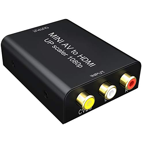 AV to HDMI変換コンバーター GANA アナログ デジタル変換コンバーター 720P/1080P対応 音声転送 USB給電ケ...