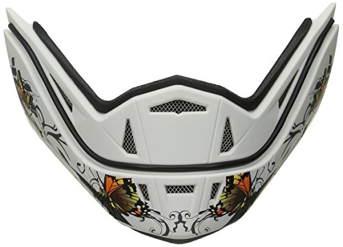 Stealth Phantom Convertible Helmet Replacement with Butterfly Graphic Jaw (Flat White)