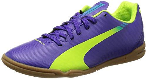 Puma Evospeed 5.3 It - Zapatillas, color morado (prism violet/fluro yellow/scuba blue 01), talla 37.5 EU (4.5 niños UK)