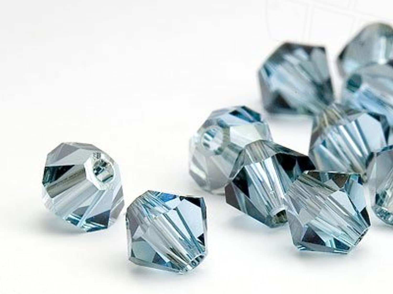 Glass Beads of Swarovski Elements Bicone 3mm (Aquamarine-Satin), 1440 Pieces (10 Gross)