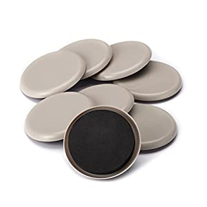 CO-Z Furniture Sliders, 8 Pack Sliders for Furniture Legs, 3.5 Inch Furniture Carpet Moving Pads, Heavy Duty Chair Leg Floor Protectors Movers Coasters for Hardwood Floor, Reusable Round Glides Glider