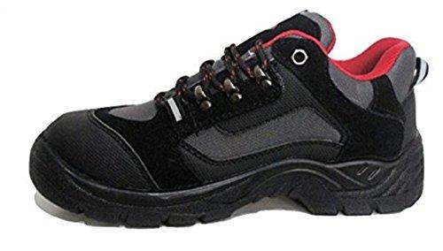 Chaussures de sport en daim avec col de cheville rembourré – 840 CL - Gris - noir/gris, 44 EU