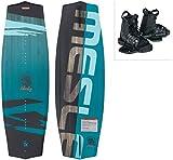 MESLE Wakeboard-Set Liberty 128 cm mit Moto Bindung Junior, Package für Kinder/Jugend, Board für Anfänger und Fortgeschrittene, Körpergewicht 20 bis 50 kg, blau schwarz