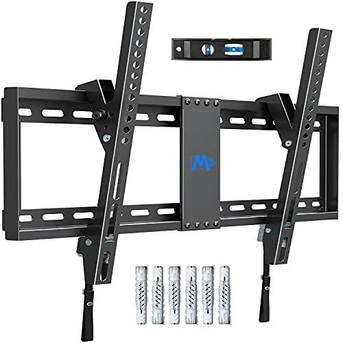 Mounting Dream Luta TV väggfäste för de flesta 37-70 tums LED, LCD, OLED, plasma-TV-apparater upp till VESA 600 x 400 mm och 60 kg, inkl. Fischer väggpluggar, lutande TV-konsol MD2268-LK-02 svart