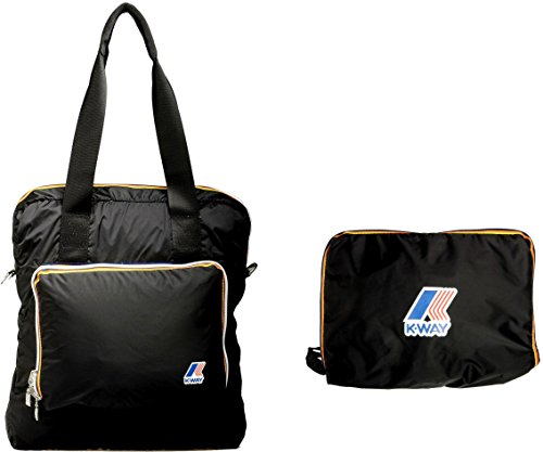 K-Way Borsa Small Unisex Nero Richiudibile - 4bkk1318ka2