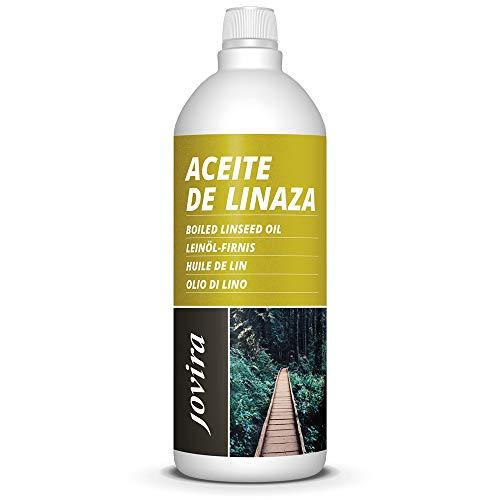 ACEITE DE LINAZA BARNIZ NATURA (100% PURO) Nutrición, protección y cuidado de la madera. (1 L)