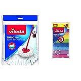 Vileda Recambio Fregona Easy Wring &Amp; Clean, Blanco, 1 Unidad...