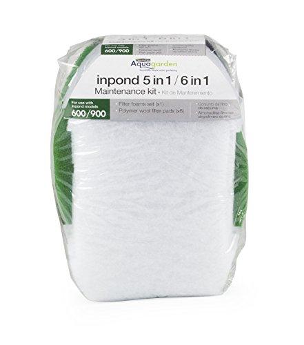 Pennington Aquagarden , Pond Filter for Ponds , Foam Filter Set , Polymer Wool Filter Pads , Pond Maintenance Kit , Suitable for Inpond 5 in 1 600 Gallon Model