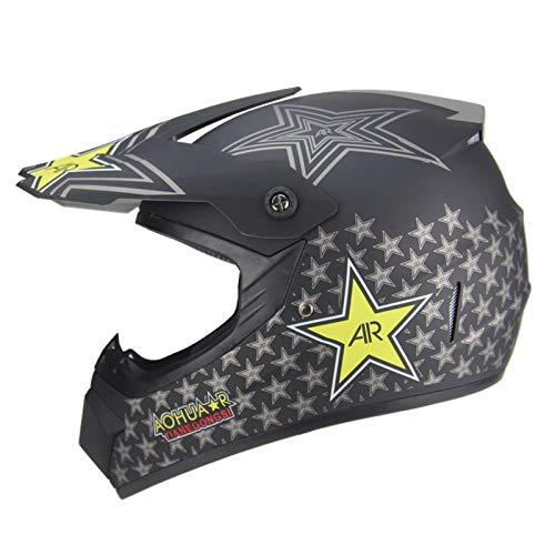 Casco MTB de cara completa, casco de motocross Red Bull/Five-Pointed Star para...