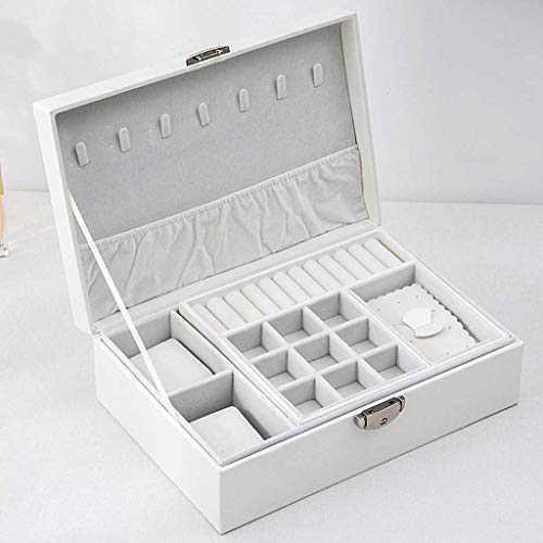 SMEJS Caja de Almacenamiento de Nueva joyería Caja de Almacenamiento de múltiples Capas de Cuero Creativo Caja de Almacenamiento PU (Color : C)