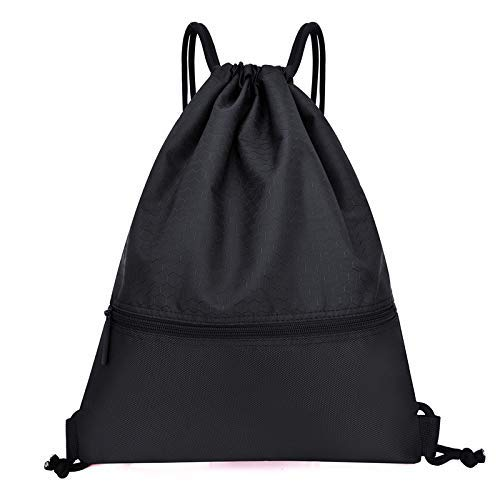 BBGSFDC Paquetes de Baloncesto Draw Hoters Hombres y Mujeres al Aire Libre Impermeable (Color : String Black Large)