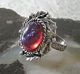 Dragon Breath Fire Opal Ring, handmade jewelry gothic victorian medieval renaissance art nouveau art deco tudor
