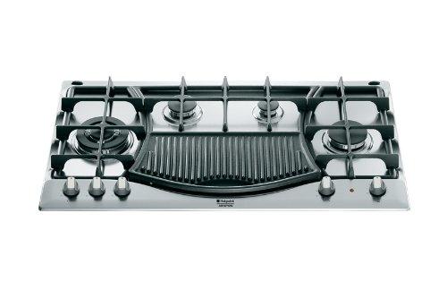 Hotpoint Ariston - Piano cottura a gas PH 941MSTB GH/HA finitura inox con griglie in ghisa da 90cm