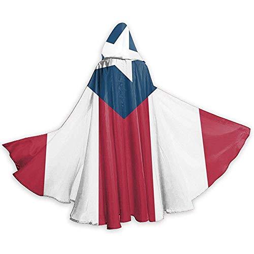 KDU Fashion Cape heks, Puerto Rico vlag (2) mantel met capuchon zacht, comfortabele toveroverhanging voor hektovers, 40 x 150 cm