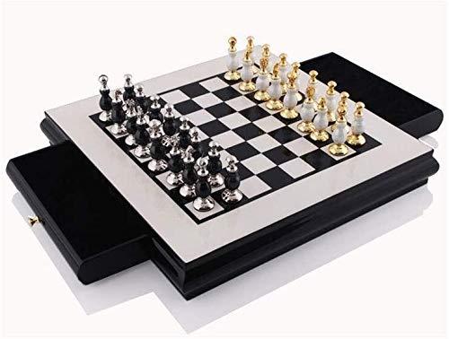 JHSHENGSHI Juegos de ajedrez 40x40cm, Schubladenart Adultos ajedrez, Juguetes Infantiles y recreativos, Adornos/Manualidades/Regalos, marrón