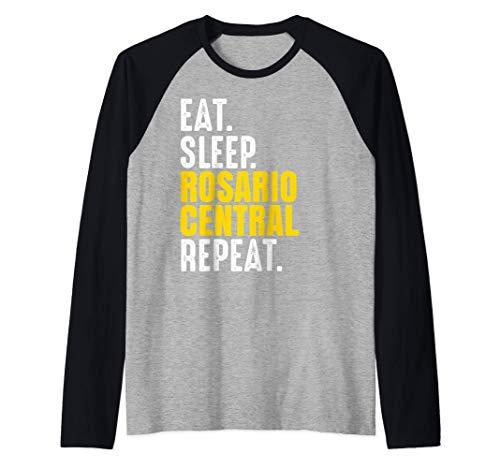 Rosario Central Regalo Eat Sleep Repeat Fútbol Argentina Camiseta Manga Raglan