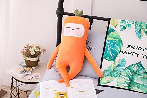qunxun Divertidos muñecos de Verduras con Almohadas, Juguetes de Peluche, Regalos para niños, Zanahorias Grandes