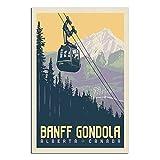 RQSY Vintage-Reise-Poster, Kanada, Banff, Gondela,
