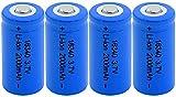 4 Piezas High Sharp 16340 3.7V 2000 Mah Li-Ion Batería De Litio Recargable para Batería Externa Micrófono Radio Linterna Led Faros Delanteros
