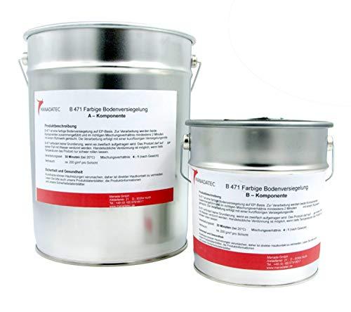 10 kg 50 m2 muchos colores RAL resina epoxi 2 K pintura para suelo suelo sellado pintura pintura de suelo suelo de garaje pintura pintura suelo suelo suelo de garaje pintura (rojo sueco)