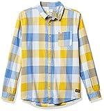 Quiksilver - Camisa de franela para hombre, diseño de mosca de miel, talla S