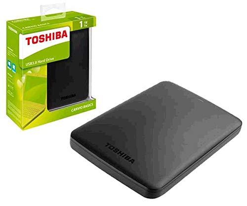 SSO ) Disco rigido esterno per Toshiba CANVIO Basics / 1TB / 2.5 / USB 3.0 / nero opaco