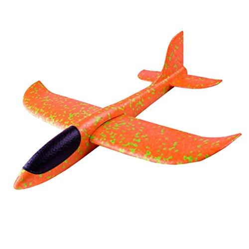 NUOBESTY Juego de 2 aviones de juguete para niños, lanzamiento manual, modelo de espuma voladora para niños, regalo (patrón de color aleatorio)