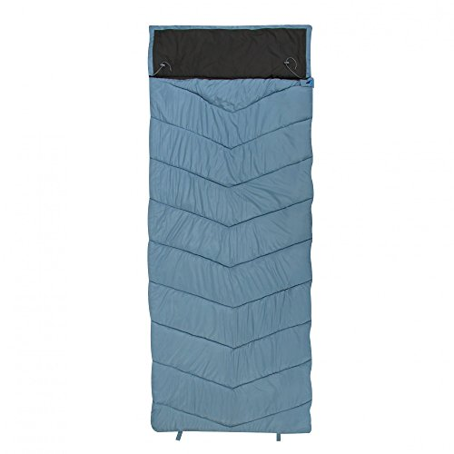 10T Burnum slaapzak XXL 230x90 cm -11° dekenslaapzak blauw grijs warm waterafstotend wasbaar