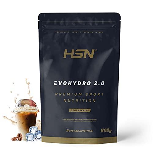 Proteína Hidrolizada de Suero de HSN Evohydro 2.0   Hydro Whey   A partir de Whey Protein Isolate   Proteína Vegetariana Sin Lactosa   No-GMO, Sin Gluten   Café Helado   500 gr