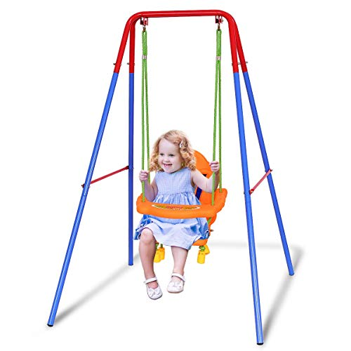 Our #7 Pick is the Costzon Toddler Swing Set