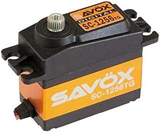 Savox SC-1256TG Servo - Radio-Controlled (RC) Model Parts (Servo,, Coche, Negro, Amarillo, Aluminio, Aluminio, Titanio)