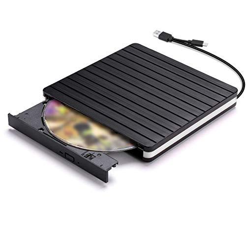 LWSJP DVD Externa Drive Unidad óptica USB 3.0 Reproductor de CD-ROM CD-RW Quemador Escritor Lector Grabador de Portatil