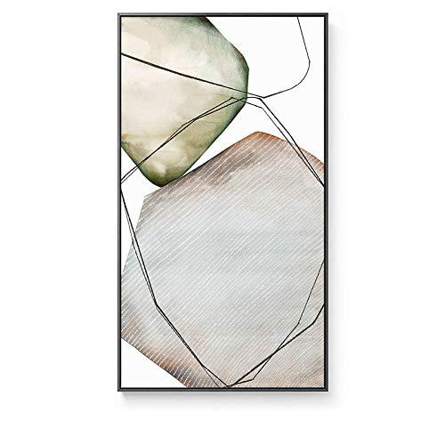 HYY-YY Abstracto Minimalista Piedra Gris Grandes Carteles Impresiones Lienzos Pinturas Arte de la Pared Imagen Pasillo del Hotel Sala de Estar Decoración del hogar 23.6'x 35.4' (60x90cm) Sin Marco