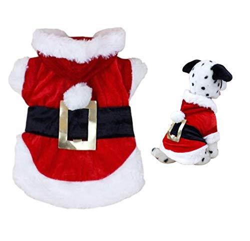 HAMISS Puppy Sweater Kerst Jas Leuke Huisdier Hond Kerstmis Winter Warme Kleding Santa Doggy Hoodie Kostuums Hooded Jas Pullover Huisdier Kleding