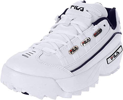 Fila Hombre Hometown Synthetic Leather White Navy Red Entrenadores 43 EU