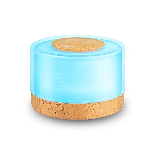 Seamei Difusor de aromas 800 ml Difusor de Aceite Esencial Ultrasónico Humidificador 7 Colores LED, Difusor de Aromas Ultrasónico,Apagado Automático y Humidificador para Bebes etc