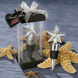 Starfish Bottle Stopper Favor beach theme wedding favors, 72