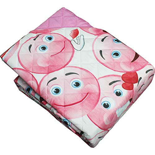 Russo Tessuti Trapuntino Primaverile Termosaldato Smile Romantic 170x260 cm Singolo-Rosa