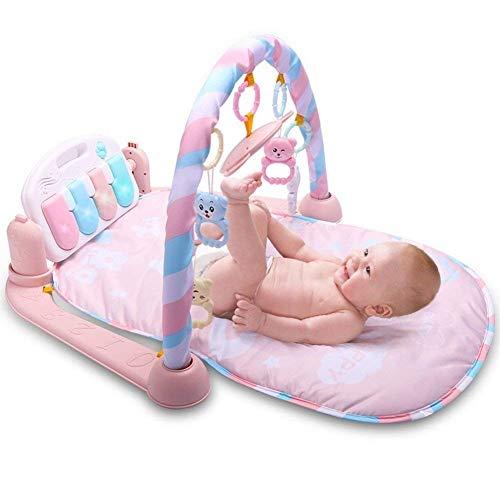 KDDD, tappetino da ginnastica morbido per bambini, per attività fitness, con specchio per pianoforte e sonaglio, culla, giocattolo per lo sviluppo della musica
