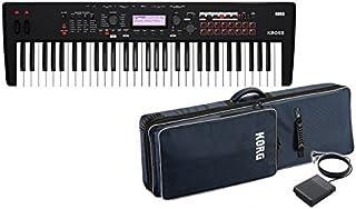 KORG シンセサイザー ワークステーション KROSS 2 61鍵盤モデル Super Matte Black [KROSS2-61-MB] + 純正ソフトケース SC-KROSS2 61 + ペダルスイッチ PS-3 セット