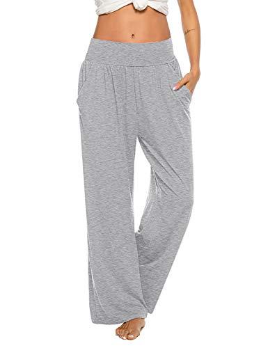 ZJCT Womens Sweatpants Comfy Loose Casual Wide Leg Yoga Workout Lounge Pants with Pockets Colour 01 XL