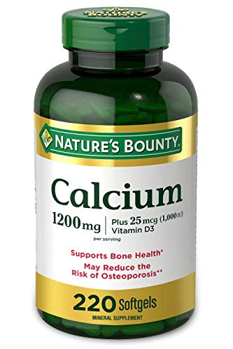 Calcium & Vitamin D by Nature's Bounty, Immune Support & Bone Health, 1200mg Calcium & 1000iu D3, 220 Softgels