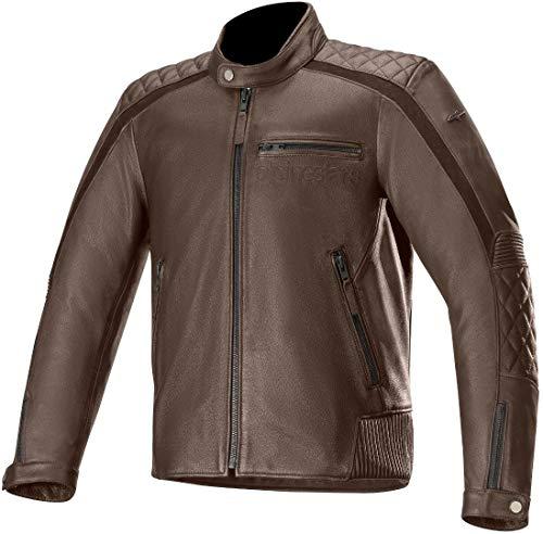 Alpinestars Chaqueta moto Hoxton V2 Leather Jacket Brown, BROWN, 54