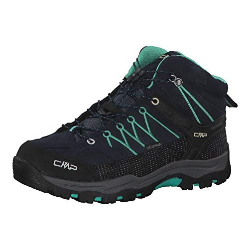 CMP Unisex-Kinder Kids Rigel Mid Shoe Wp Trekking-& Wanderstiefel, Blau (B.Blue-Aqua Mint 12nd), 32 EU
