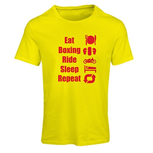 lepni.me dames T-shirt Eat Sleep Boxing Repeat - para combinentes y jinetes