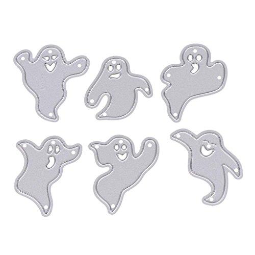 WuLi77 Halloween-Geist Metall Stanzschablone Die Stanzen Zum Basteln Von Karten, Prägeschablone Für Scrapbooking, DIY Album, Papier, Karten, Kunst, Dekoration