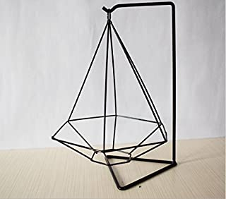 Leoie Geometry Iron Flower Stand Gardening Accessories Home Office Decoration Black Hexagon