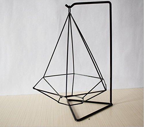 Redcolourful Stilvolle Geometrie Eisen Blume Stand Garten Zubehör Home Office Dekoration Black Hexagon Hohe Qualität