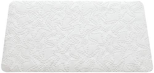 FERIDRAS Stella Tappeto Antiscivolo, Gomma, Bianco, 3x20x51 cm
